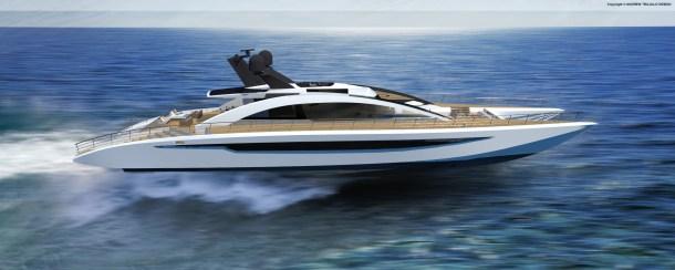 Fast Motor Catamaran designed with Adam Younger Designs.