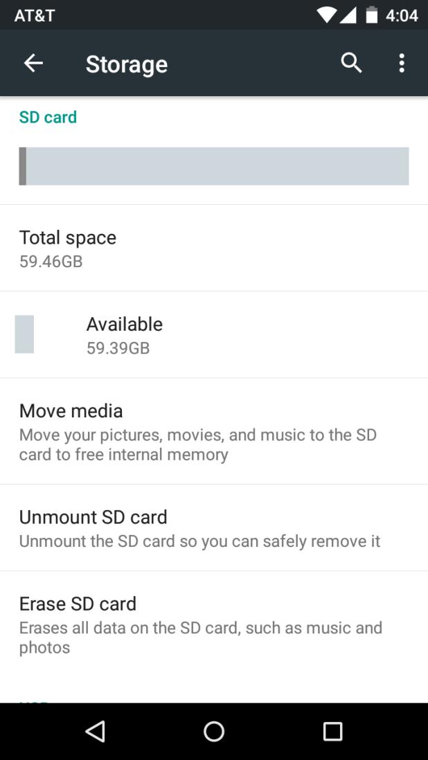 Sd card storage