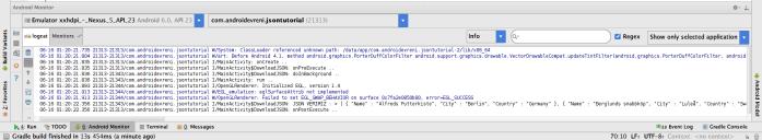 Android te JSON Veriyle Çalışmak - Logcat - 3