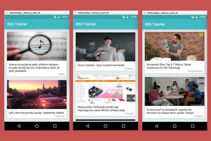 Android te RSS İle Çalışmak - Sonuç