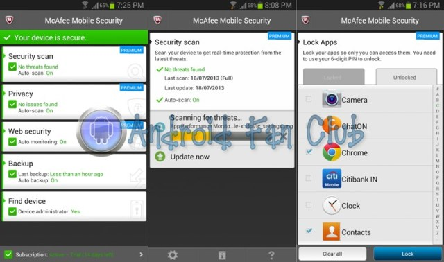 McAfee Antivirus & Security for Android smartphones & tablets