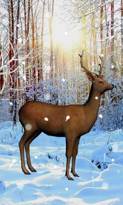Deer Snow Live Wallpaper Android App APK by skyup