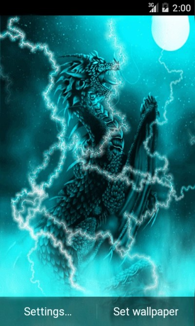 Dragon of Light Live Wallpaper Android App APK by andapplique