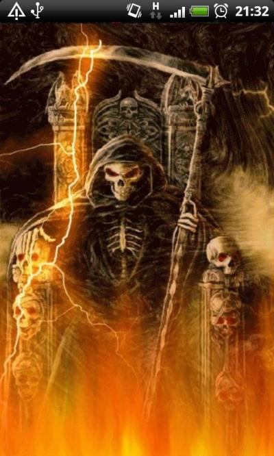 Fire Grim Reaper Live Wallpaper free download for Android