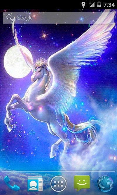 Pegasus Fantasy Live Wallpaper Android App - Free APK by andapplique