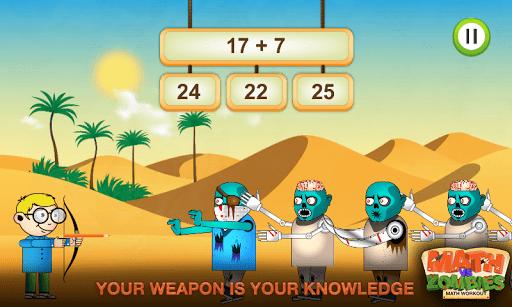 Math vs. Zombies: Math Workout