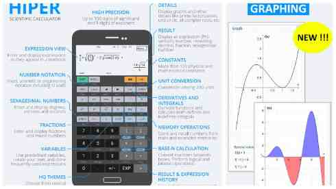 HiPER Scientific Calculator app grid