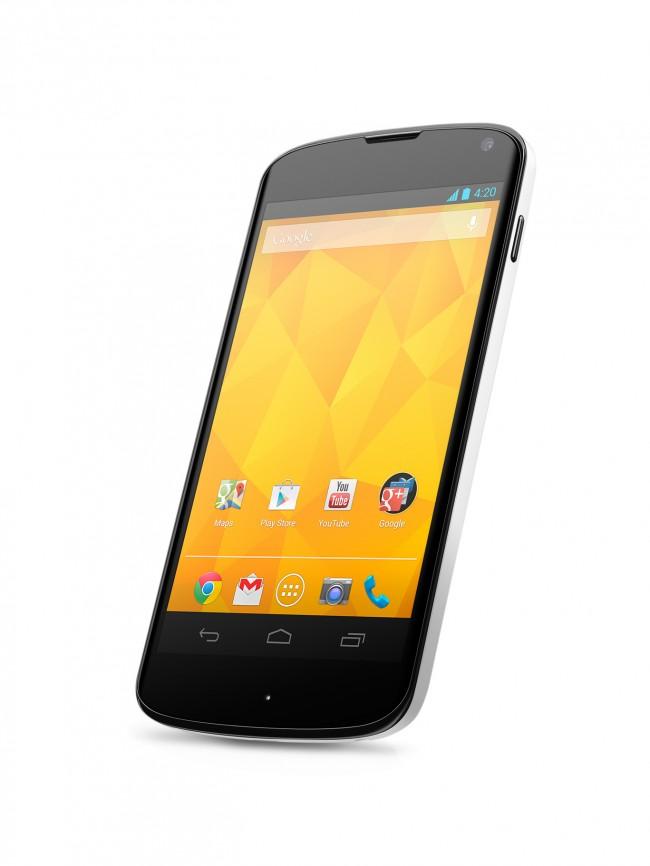 Das Nexus 4 ist ab sofort für nur 199 bzw 249 Euro im Play Store erhältlich. Foto: LG.