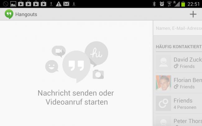 Mit Google Hangouts kann man komfortabel Videoanrufe tätigen.