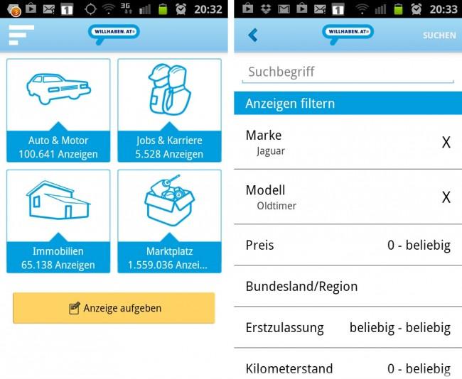 Über 1,6 Millionen Angebote findest du in dieser App. Dabei kannst du die Suchergebnisse beinahe nach Belieben filtern.