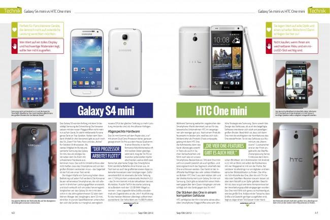 Galaxy S4 mini vs. HTC One mini (2 von 6 Seiten)