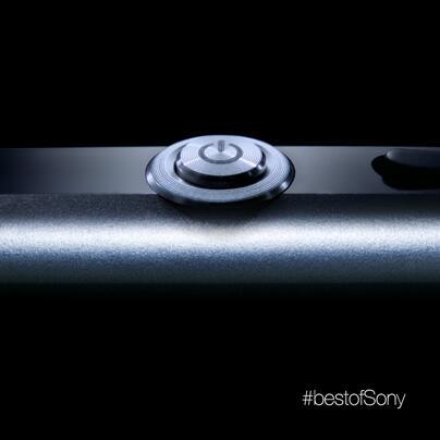 Das auf Twitter veröffentlichte Bild des Sony Xperia Z1 zeigt den Einschaltknopf des Smartphones. Foto: Twitter Account von Sony.