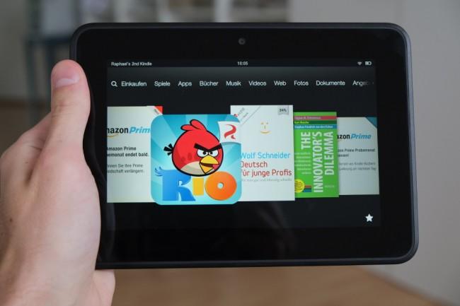 Das Display des Kindle Fire HD ist klasse, die Benutzeroberfläche aber gewöhnungsbedürftig.