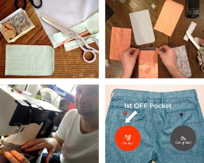 Der Prototyp der Off Pocket war eine handyfeindliche Hosentasche. (Bildquelle: KickStarter)