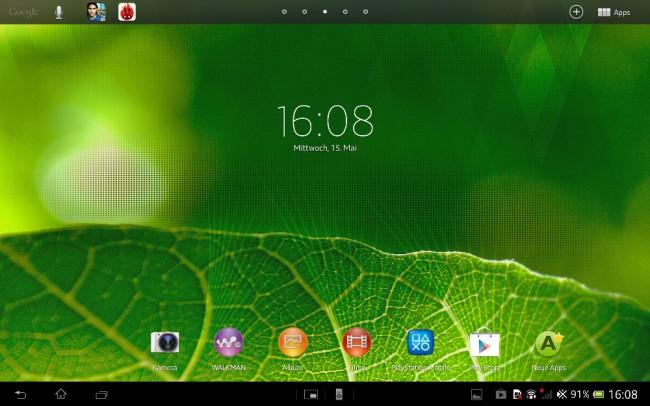 Die Oberfläche orientiert sich am nativen Android 3.x, die Optik punktet durch Zurückhaltung