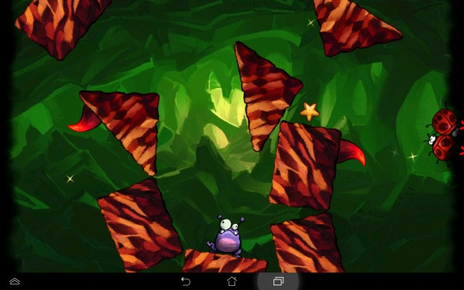 Mithilfe des Neigungssensors deines Smartphones manövrierst du die Käfer zum Monster.