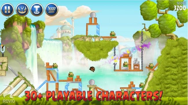 Insgesammt stehen dir über 30 spielbare Charaktere zur Verfügung. Grafik: Rovio.