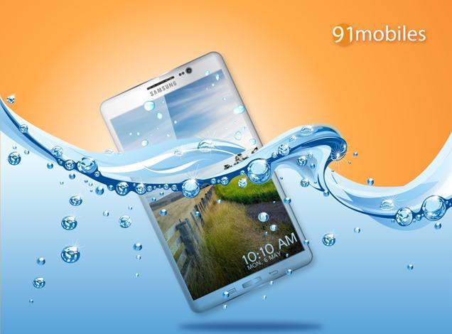 In diesem Bild besitzt das Galaxy S5 starke Parallelen zur Galaxy Note Designline. Foto: Android Headlines.