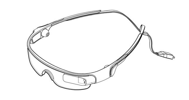 So ähnlich soll die Samsung Datenbrille aussehen. Foto: Wall Street Journal.