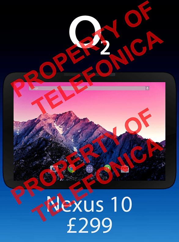 Der Platzhalter von O2 zeigt ein bisher unbekanntes Tablet. So ähnlich soll das neue Nexus 10 aussehen. (Foto: reddit)