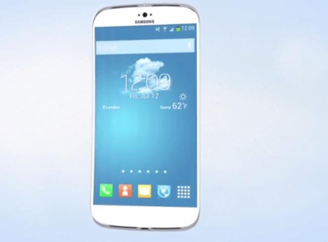 Laut den Vorstellungen eines Designer könnte das Galaxy S5 in etwa so aussehen. Foto: Youtube.