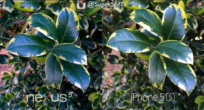 Die Farbsättigung des Nexus 5 ist etwas höher als die des iPhone 5S. (Bildquelle: SuperSaf TV)