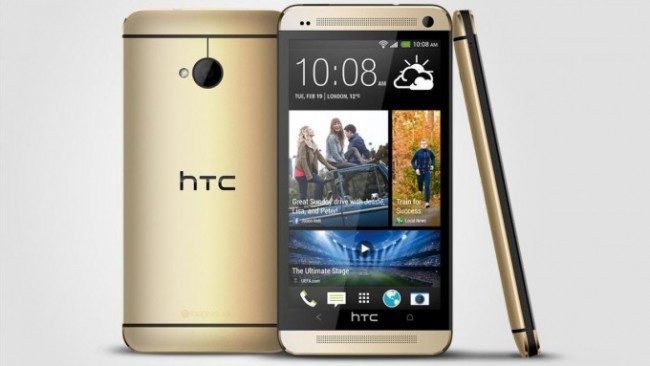 So sieht das HTC One in Gold aus. (Foto: AndroidCentral)