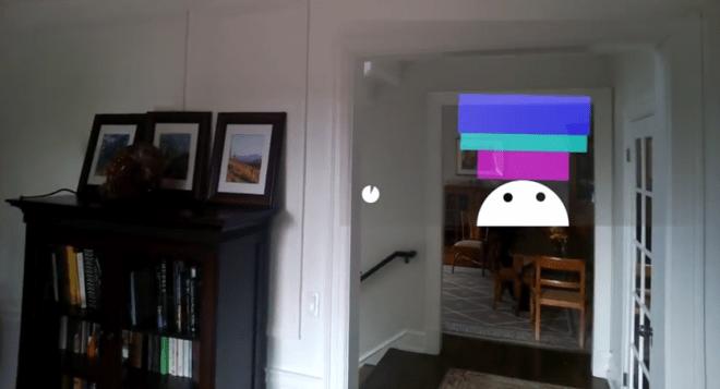 Eines der Mini-Games für Google Glass: Mit Kopfbewegungen verhindern das Gleichgewicht halten.