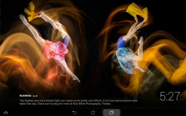 Dank dieser Anwendung ziehren teilweise sehr eindrucksvolle Bilder das Display deines Tablets.