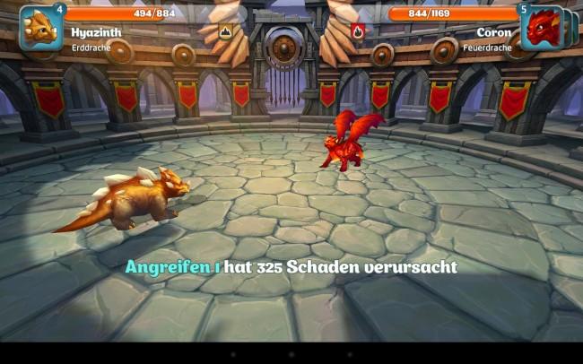 In der Arena kannst du deinen Drachen gegen andere antreten lassen.