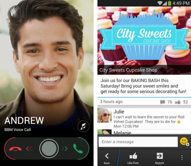 In der neuen Version kannst du normale Sprachanrufe über BBM machen. (Foto: BlackBerry)