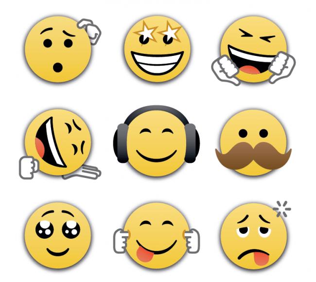 Neue Emoticons verleihen den Aussagen und Chats ein wenig mehr Ausdruck. (Foto: BlackBerry)