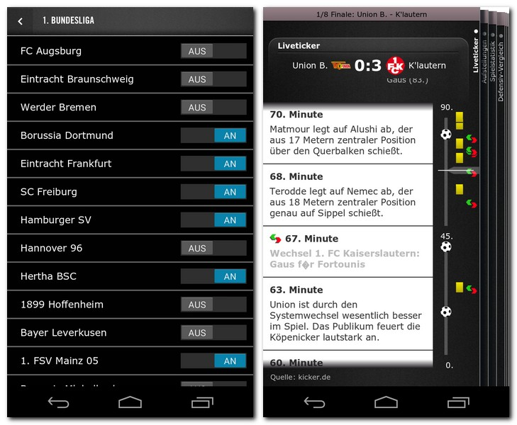 Spiegel online fu ball androidmag for Spiegel app android
