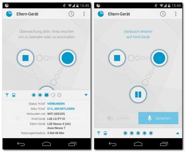 Die App Dormi verwandelt ein Smartphone in ein flexibles Babyphone, das sich von mehreren anderen Geräten aus abhören lässt.