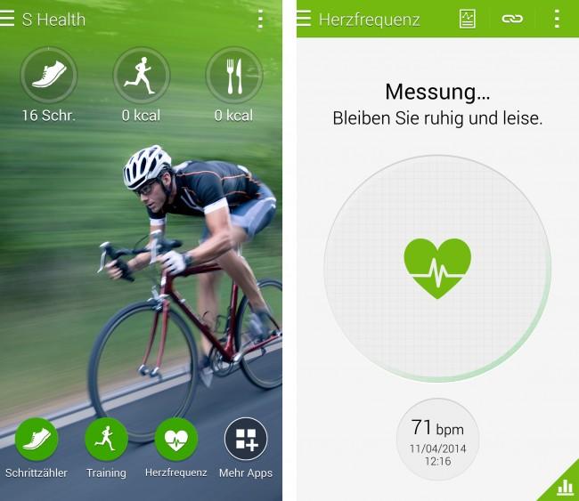 Mit Hilfe der Fitness-App und dem Sensor kannst du deine Herzfrequenz messen.