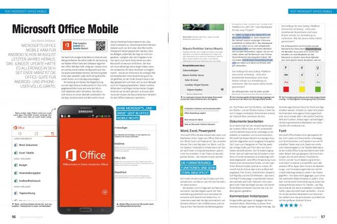 Microsoft Office Mobile (2 von 2 Seiten)