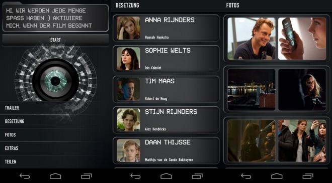 "So präsentiert sich die App ""App - Der Film"" (Screenshots Androidmag.de)"