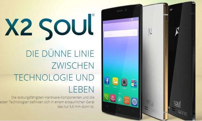 Mit nur 5,55 Millimeter soll das Allview X2 Soul nach Herstellerangaben das dünnste Smartphone der Welt sein. (Bild: Allview)