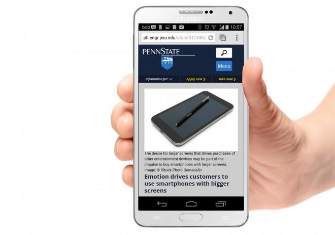 Große Displays wie jenes des Galaxy Note 3 machen uns glücklich.