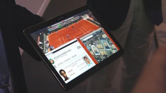 Viel Platz auf dem Bildschirm: Samsungs mögliches 4K-Tablet. (Bild: TechRadar)