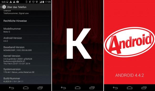 Mehrmals auf die Android-Version tippen, dann das K mehrmals antippen und schließlich noch länger auf das Kitkat-Logo tippen