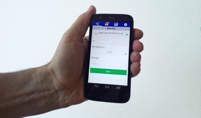 Die wählbare Zeitspanne bis zur Selbstzerstörung einer Datei liegt zwischen 1 Minute und 1 Monat (Foto: Androidmag)