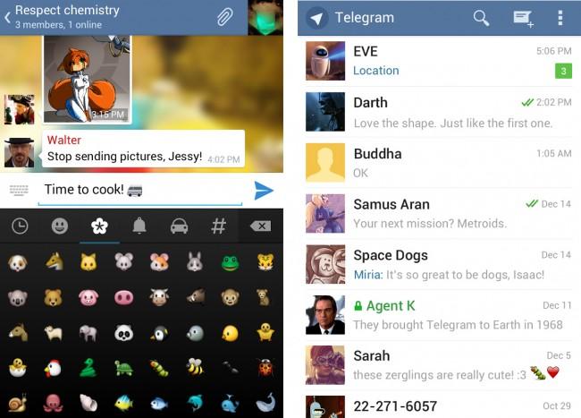 Bei der Optik und den Features hält sich die App sehr eng an WhatsApp