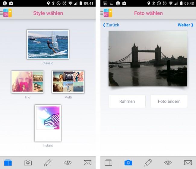 """Klassisch, retro, hip oder modern? Postkarten lassen sich in vier verschiedenen """"Styles"""" erstellen."""