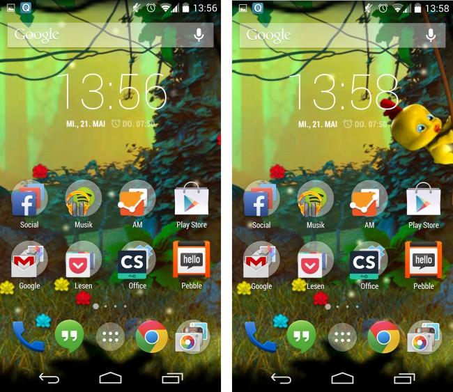 Mit dem sommerlichen Live-Hintergrund hauchst du deinem Smartphone-Homescreen neues Leben ein.