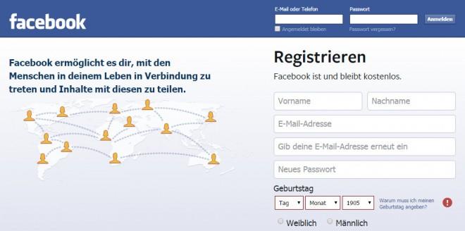 Facebook  Anmeldung 02
