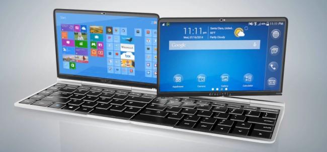 Das Dragonfly Futurefön lässt sich wahlweise als Smartphone, Tablet oder Notebook einsetzen. (Foto: Idealfuture)