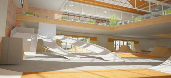 """Um das """"Hendo Hoverboard"""" verwenden zu können, ist ein """"Hoverpark"""" nötig – eine Anlage mit Fahrbahnen und Rampen aus metallischem Material. (Foto: Hendo)"""