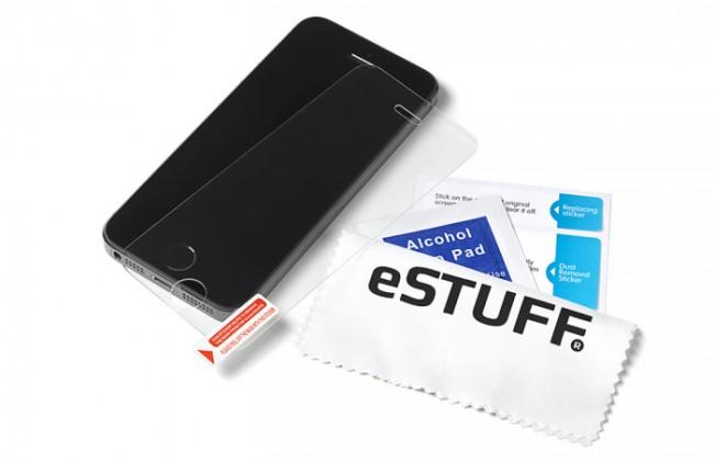 Der TitanShield-Bildschirmschutz soll neunmal widerstandsfähiger sein als normales Glas. (Foto: eStuff)