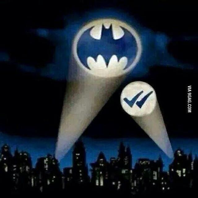 Auch Batman nutzt das neue WhatsApp-Feature. (Foto: 9GAG)